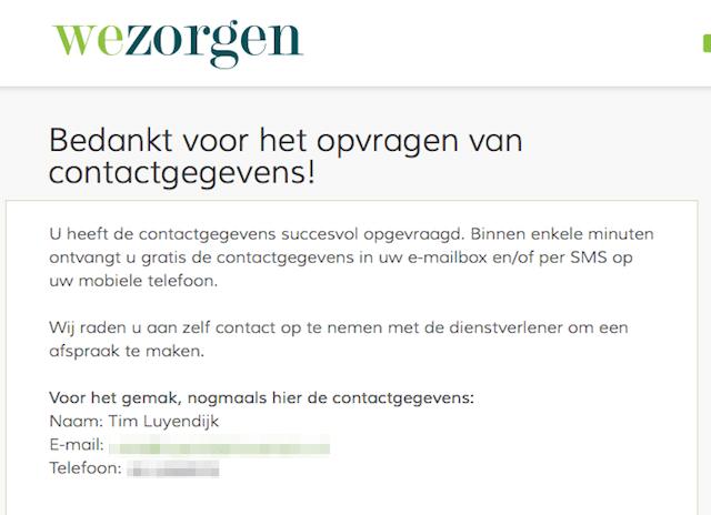 Wezorgen.nl contactgegevens
