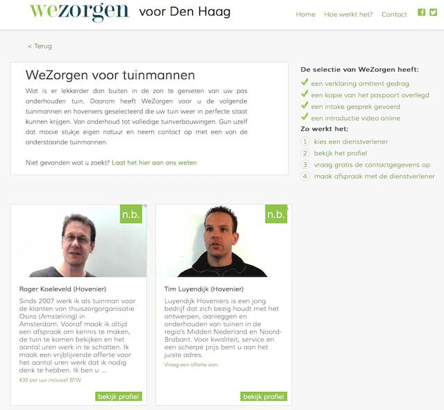 Wezorgen.nl tuinmannen