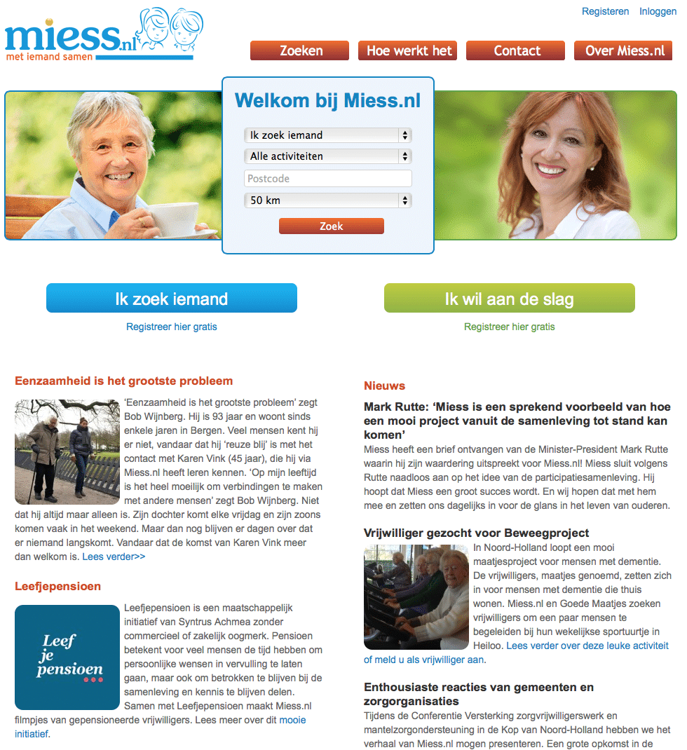 vrijwilliger vinden Miess.nl