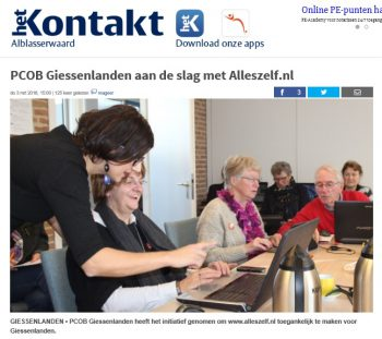 Alleszelf in de media 2016 Giessenlanden