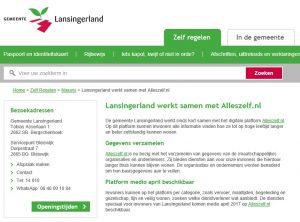 Lansingerland werkt samen met Alleszelf.nl