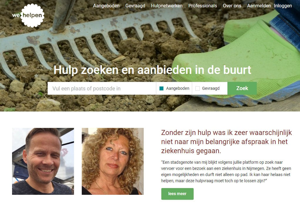 wehelpen.nl vrijwilliger hulpvraag