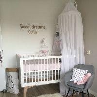 houten letters babykamer