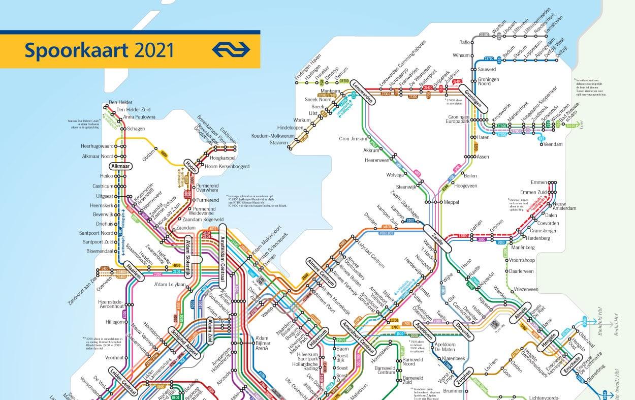 NS dienstregeling 2021